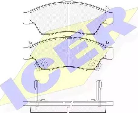 Icer 181453 - Kit de plaquettes de frein, frein à disque www.widencarpieces.com