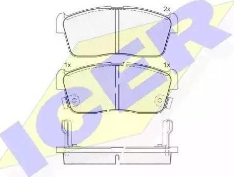 Icer 181452 - Kit de plaquettes de frein, frein à disque www.widencarpieces.com