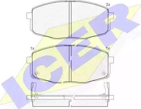 Icer 181540 - Kit de plaquettes de frein, frein à disque www.widencarpieces.com