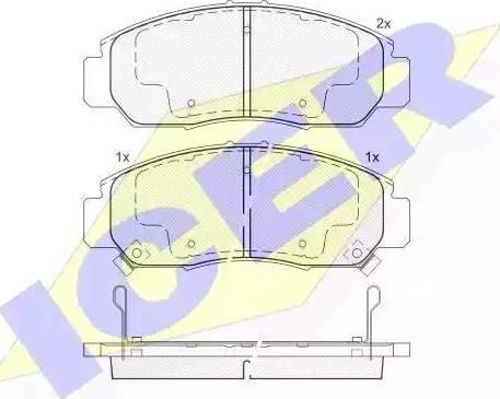 Icer 181543 - Kit de plaquettes de frein, frein à disque www.widencarpieces.com