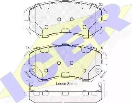 Icer 181644 - Kit de plaquettes de frein, frein à disque www.widencarpieces.com