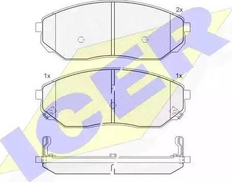 Icer 181606 - Kit de plaquettes de frein, frein à disque www.widencarpieces.com