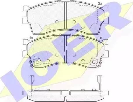 Icer 181610 - Kit de plaquettes de frein, frein à disque www.widencarpieces.com