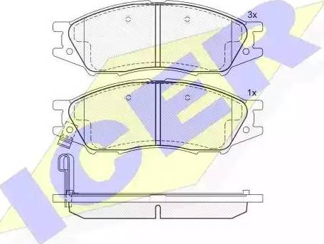 Icer 181635 - Kit de plaquettes de frein, frein à disque www.widencarpieces.com