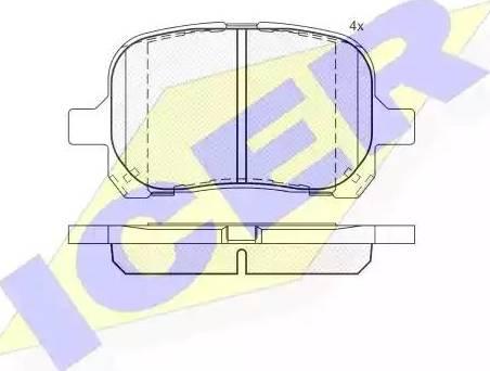 Icer 181632 - Kit de plaquettes de frein, frein à disque www.widencarpieces.com