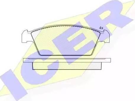 Icer 181134 - Kit de plaquettes de frein, frein à disque www.widencarpieces.com