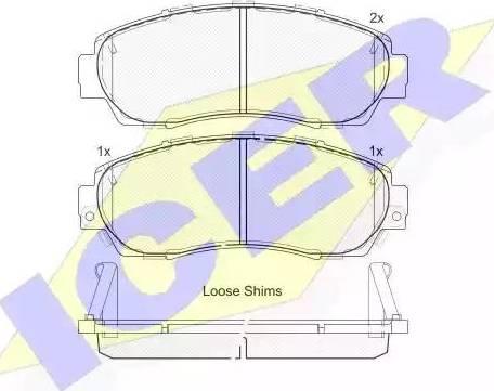 Icer 181811 - Kit de plaquettes de frein, frein à disque www.widencarpieces.com