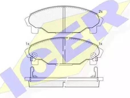 Icer 181340 - Kit de plaquettes de frein, frein à disque www.widencarpieces.com