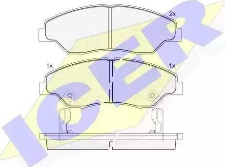 Icer 181370 - Kit de plaquettes de frein, frein à disque www.widencarpieces.com