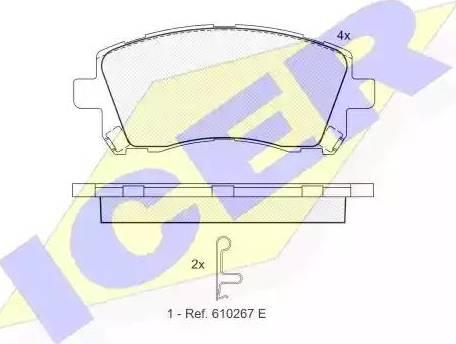 Icer 181247 - Kit de plaquettes de frein, frein à disque www.widencarpieces.com