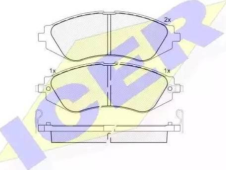 Icer 181263 - Kit de plaquettes de frein, frein à disque www.widencarpieces.com