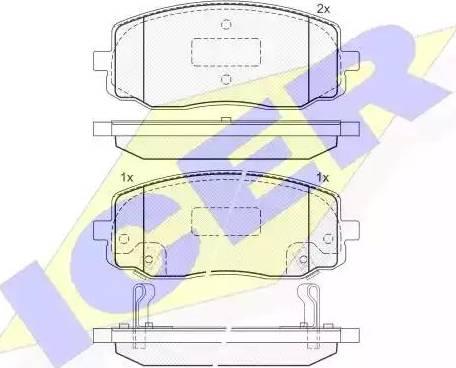 Icer 181709 - Kit de plaquettes de frein, frein à disque www.widencarpieces.com