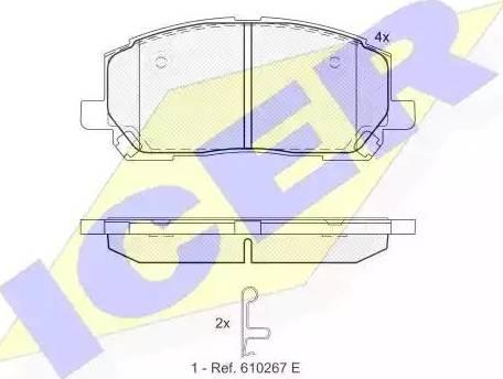 Icer 181705 - Kit de plaquettes de frein, frein à disque www.widencarpieces.com