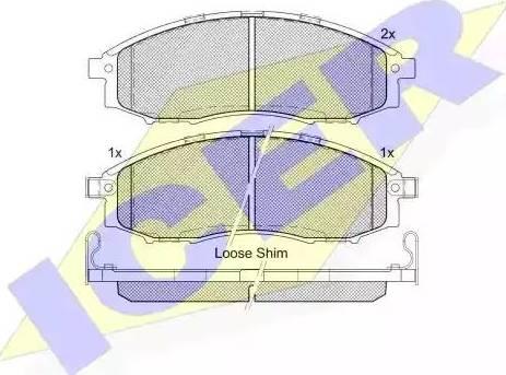 Icer 181703 - Kit de plaquettes de frein, frein à disque www.widencarpieces.com