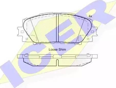 Icer 181774 - Kit de plaquettes de frein, frein à disque www.widencarpieces.com