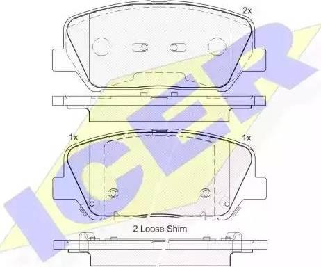 Icer 182090 - Kit de plaquettes de frein, frein à disque www.widencarpieces.com