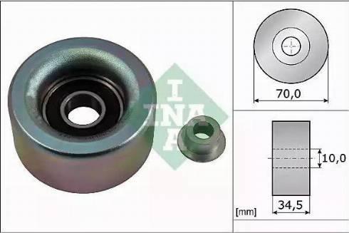INA 532 0590 10 - Poulie renvoi/transmission, courroie trapézoïdale à nervures www.widencarpieces.com