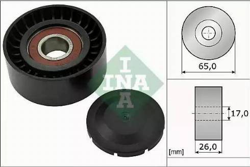INA 532 0557 10 - Poulie renvoi/transmission, courroie trapézoïdale à nervures www.widencarpieces.com