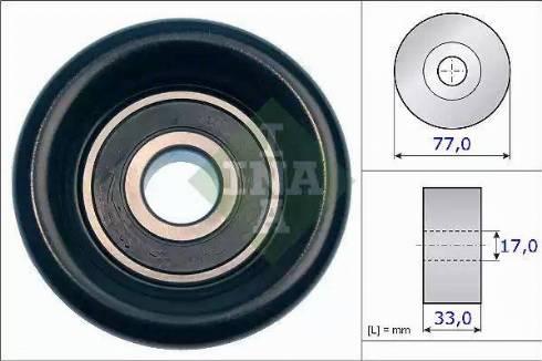 INA 532 0568 10 - Poulie renvoi/transmission, courroie trapézoïdale à nervures www.widencarpieces.com