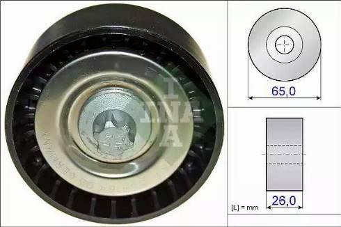 INA 532 0570 10 - Poulie renvoi/transmission, courroie trapézoïdale à nervures www.widencarpieces.com