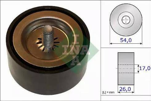 INA 532 0672 10 - Poulie renvoi/transmission, courroie trapézoïdale à nervures www.widencarpieces.com