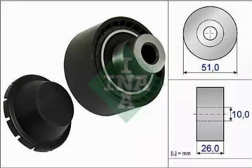 INA 532 0334 10 - Poulie renvoi/transmission, courroie trapézoïdale à nervures www.widencarpieces.com