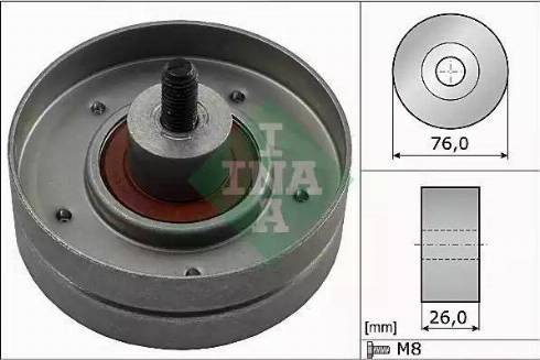 INA 532 0252 30 - Poulie renvoi/transmission, courroie trapézoïdale à nervures www.widencarpieces.com