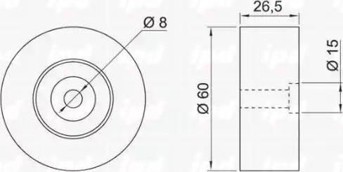 IPD 14-0584 - Poulie renvoi/transmission, courroie trapézoïdale à nervures www.widencarpieces.com