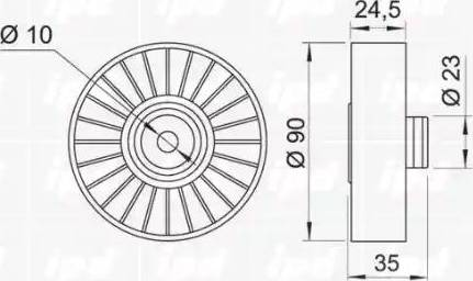 IPD 15-0947 - Poulie renvoi/transmission, courroie trapézoïdale à nervures www.widencarpieces.com