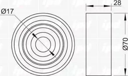 IPD 15-0985 - Poulie renvoi/transmission, courroie trapézoïdale à nervures www.widencarpieces.com