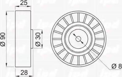 IPD 15-0110 - Poulie renvoi/transmission, courroie trapézoïdale à nervures www.widencarpieces.com