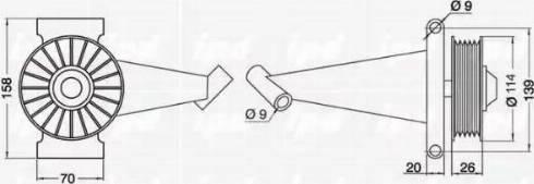IPD 15-0170 - Poulie renvoi/transmission, courroie trapézoïdale à nervures www.widencarpieces.com