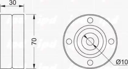 IPD 15-0316 - Poulie renvoi/transmission, courroie trapézoïdale à nervures www.widencarpieces.com