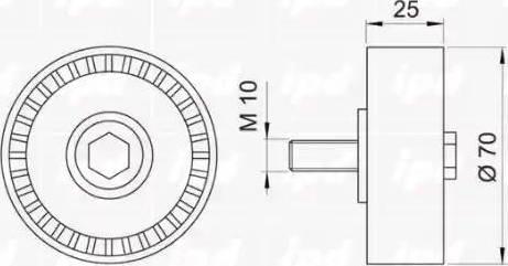 IPD 15-0372 - Poulie renvoi/transmission, courroie trapézoïdale à nervures www.widencarpieces.com
