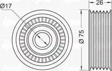IPD 15-0768 - Poulie renvoi/transmission, courroie trapézoïdale à nervures www.widencarpieces.com
