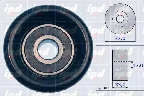 IPD 15-3978 - Poulie renvoi/transmission, courroie trapézoïdale à nervures www.widencarpieces.com