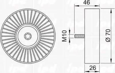 IPD 15-3132 - Poulie renvoi/transmission, courroie trapézoïdale à nervures www.widencarpieces.com