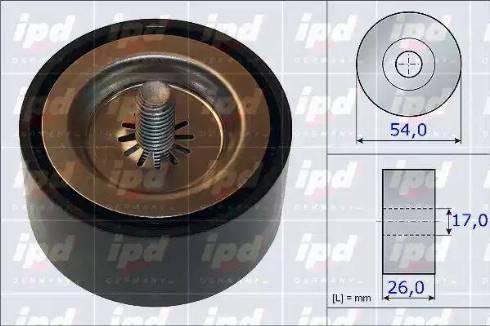 IPD 15-3874 - Poulie renvoi/transmission, courroie trapézoïdale à nervures www.widencarpieces.com