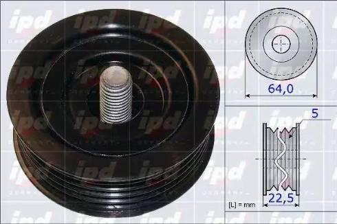 IPD 15-3871 - Poulie renvoi/transmission, courroie trapézoïdale à nervures www.widencarpieces.com