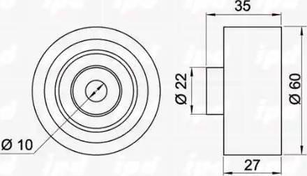 IPD 15-3387 - Poulie renvoi/transmission, courroie trapézoïdale à nervures www.widencarpieces.com