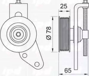 IPD 15-3333 - Poulie-tendeur, courroie trapézoïdale à nervures www.widencarpieces.com