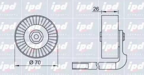 IPD 15-3234 - Poulie-tendeur, courroie trapézoïdale à nervures www.widencarpieces.com