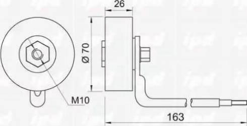 IPD 15-3235 - Poulie-tendeur, courroie trapézoïdale à nervures www.widencarpieces.com