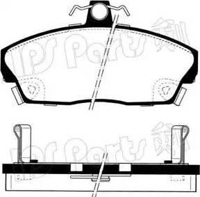 IPS Parts IBD-1427 - Kit de plaquettes de frein, frein à disque www.widencarpieces.com