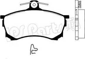 IPS Parts IBD-1592 - Kit de plaquettes de frein, frein à disque www.widencarpieces.com