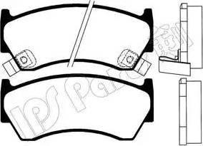 IPS Parts IBD-1191 - Kit de plaquettes de frein, frein à disque www.widencarpieces.com