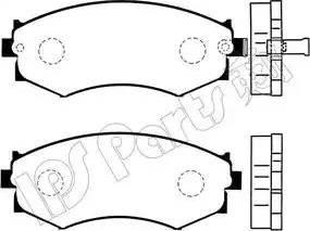 IPS Parts IBD-1142 - Kit de plaquettes de frein, frein à disque www.widencarpieces.com