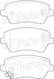 IPS Parts IBD-1884 - Kit de plaquettes de frein, frein à disque www.widencarpieces.com