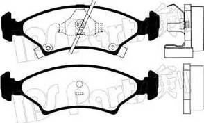 IPS Parts IBD-1398 - Kit de plaquettes de frein, frein à disque www.widencarpieces.com