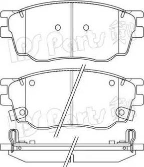 IPS Parts IBD-1365 - Kit de plaquettes de frein, frein à disque www.widencarpieces.com